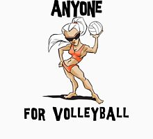 "VolleyBall ""Anyone For Volleyball?"" Womens Fitted T-Shirt"