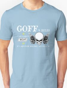 GOFF Rule #1 i am always right If i am ever wrong see rule #1- T Shirt, Hoodie, Hoodies, Year, Birthday T-Shirt