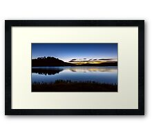 Sunrise - Pretty Valley Pondage Framed Print