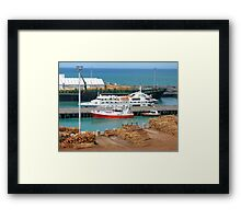 Napier - tilt shifted Framed Print