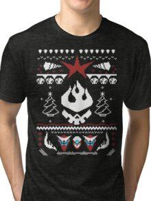 An Ugly Gurren Lagann Christmas Sweater  Tri-blend T-Shirt