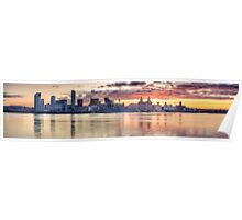 Liverpool Sunrise Panoramic Poster