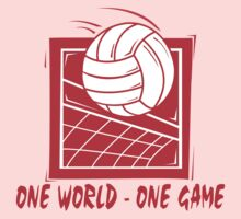 "Volleyball ""One World - One Game"" Kids Tee"