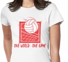 """Volleyball """"One World - One Game"""" Womens Fitted T-Shirt"""