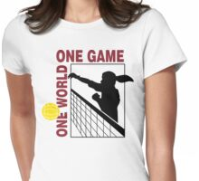 Volleyball One World One Game Women's Womens Fitted T-Shirt