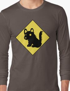 Beware Of Puppy Stare Long Sleeve T-Shirt