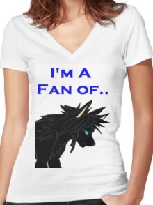 Wolf Prince Audiobook - I'm A Fan Of... (White) Women's Fitted V-Neck T-Shirt