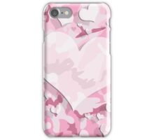 Cute Pink Camo Hearts iPhone Case/Skin