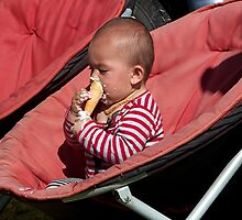 The only way to eat an ice cream......! by Roy  Massicks