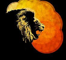 NIGHT PREDATOR: lion silhouette illustration by SFDesignstudio