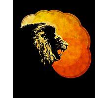 NIGHT PREDATOR: lion silhouette illustration Photographic Print