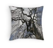 Tall Tree in the park Dundee Throw Pillow