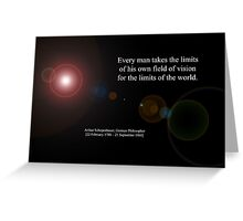 Field Of Vision By Arthur Schopenhauer Greeting Card