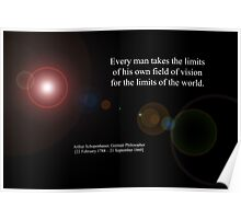 Field Of Vision By Arthur Schopenhauer Poster