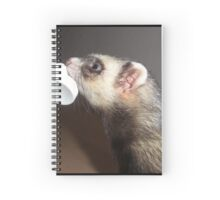 Polecat with treat Spiral Notebook