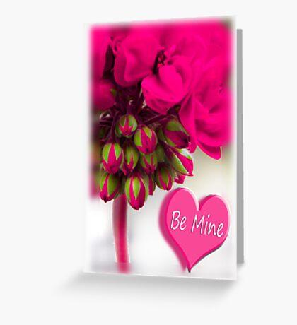 hot pink valentine Greeting Card