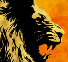 NIGHT PREDATOR: lion silhouette illustration Sticker