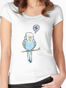 Sleepy Budgie Women's Fitted Scoop T-Shirt
