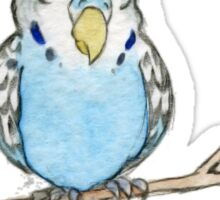 Sleepy Budgie Sticker