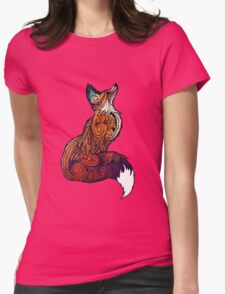 Space Fox Womens Fitted T-Shirt