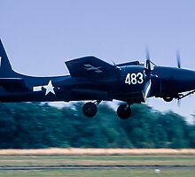 "Grumman F7F-3 Tigercat  80483/JW-483 N6178C ""Bad Kitty"" by Colin Smedley"