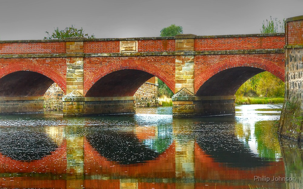 The Red Bridge c1838 - Campbell Town, Tasmania - The HDR Experience by Philip Johnson