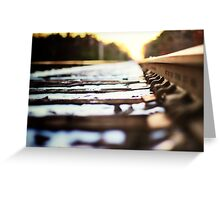 Stay on Track Greeting Card