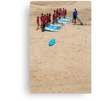 Surfing lesson Canvas Print