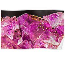 Geode Quartz Crystal Poster