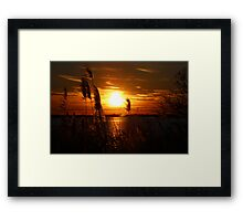 Sunset on the East End of Long Island Framed Print