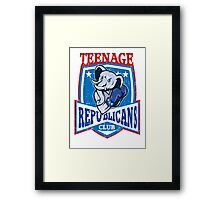 Teenage republicans Framed Print