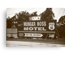 Route 66 - Munger Moss Motel Sign Canvas Print