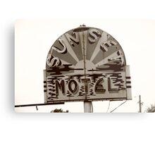 Route 66 - Sunset Motel Metal Print