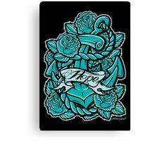 Anchor Roses 100+Views Canvas Print