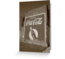 Route 66 - Coca Cola Ghost Mural Greeting Card