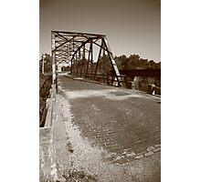 Route 66 - One Lane Bridge Photographic Print