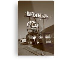 Route 66 - Glancy Motel Metal Print