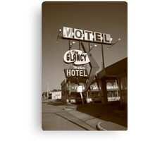Route 66 - Glancy Motel Canvas Print