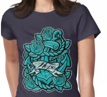 Anchor Roses 100+Views Womens Fitted T-Shirt