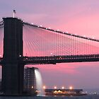 Brooklyn Bridge Sunset by out-art
