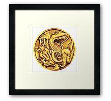 Mighty Morphin Power Rangers Megazord Coin Framed Print