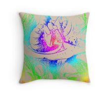 Psychadelic Mushroom Alice in Wonderland Throw Pillow