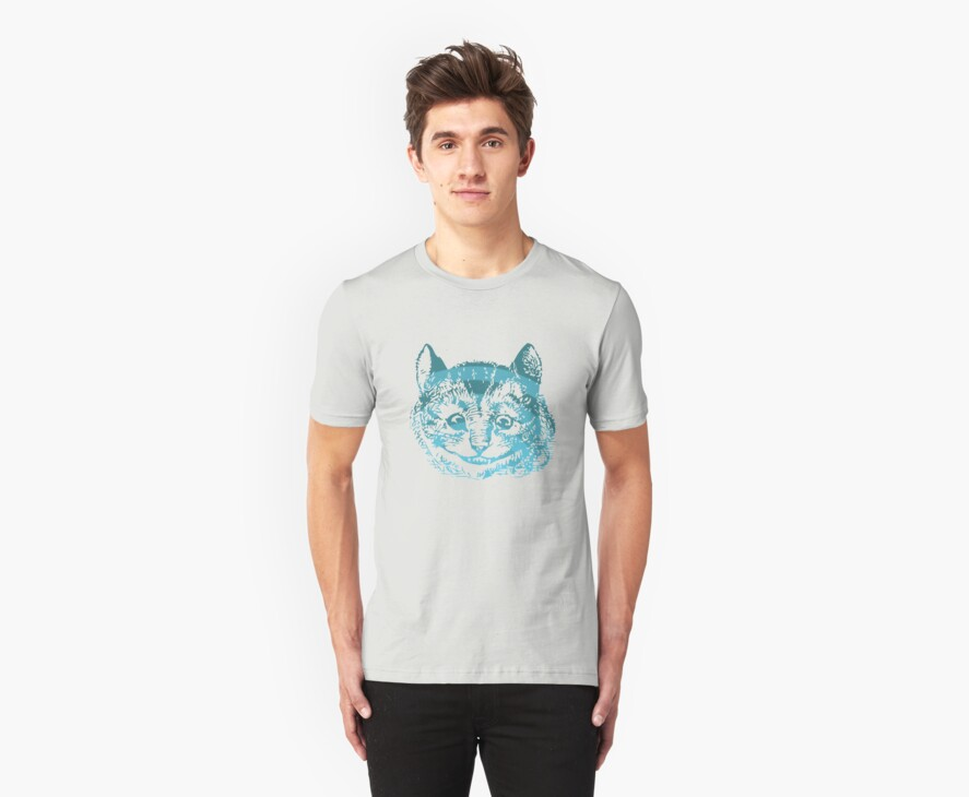 Cheshire Cat Striped Blue by Archpress