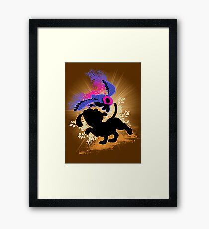 Super Smash Bros. Duck Hunt Dog Silhouette Framed Print