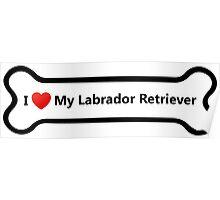 I Love My Labrador Retriever Poster