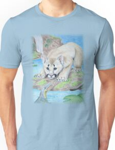 Baby Cougar with Alligator Unisex T-Shirt
