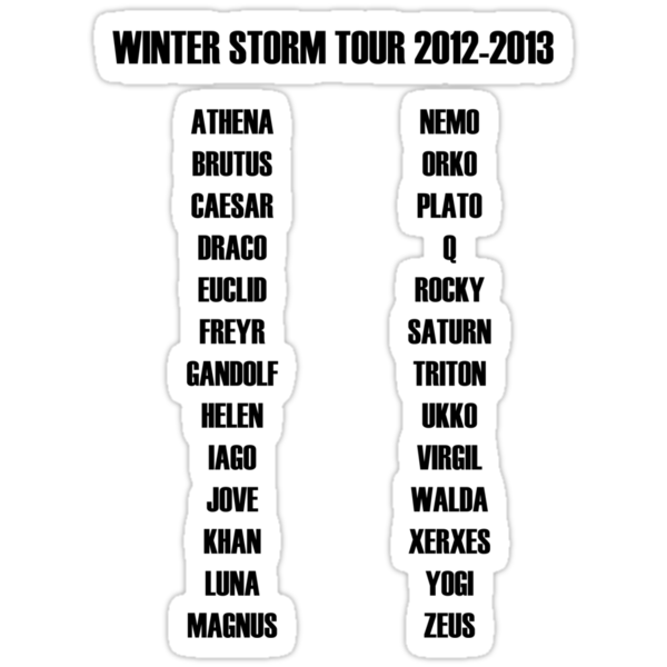 Winter Storm Tour by TWCreation
