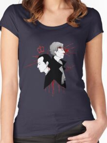 BBC Sherlock - The Reichenbach Fall Women's Fitted Scoop T-Shirt