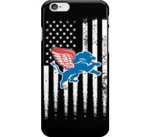 red wings + lions iPhone Case/Skin