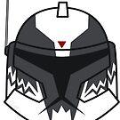 Chibi Commander Wolffe Helmet by humansrsuperior